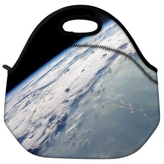 Snoogg Earth Image From The Top Travel Outdoor Tote Lunch Bag