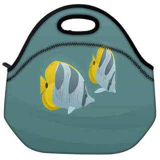 Snoogg Tiger Fish Travel Outdoor Tote Lunch Bag