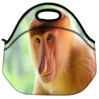 Snoogg Big Nose Monkey Travel Outdoor Tote Lunch Bag