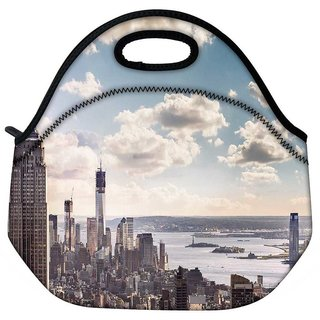 Snoogg Building And Cloud Travel Outdoor Tote Lunch Bag