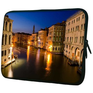 Snoogg Abstract Lake At Night 10.2 Inch Soft Laptop Sleeve