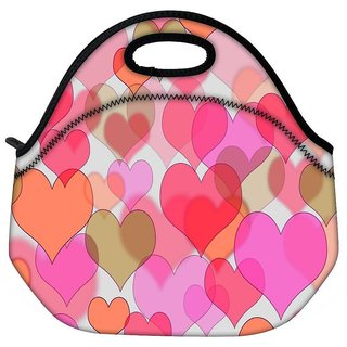 Snoogg Plenty Of Hearts Travel Outdoor CTote Lunch Bag