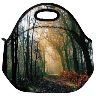 Snoogg Abstract Dense Forest Travel Outdoor Tote Lunch Bag