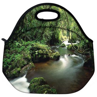 Snoogg Lake In The Jungle Travel Outdoor Tote Lunch Bag