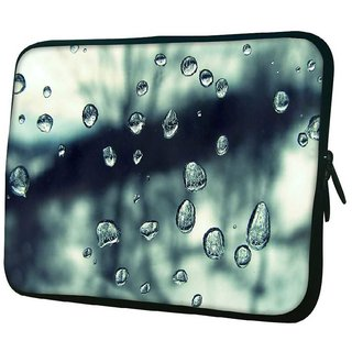 Snoogg Grey Water Drops 10.2 Inch Soft Laptop Sleeve