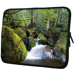 Snoogg Water Flowing Throiugh The Stones 10.2 Inch Soft Laptop Sleeve
