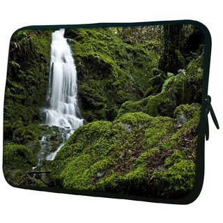 Snoogg Big Waterfall 10.2 Inch Soft Laptop Sleeve