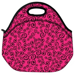 Snoogg Abstract Pink Pattern Travel Outdoor CTote Lunch Bag