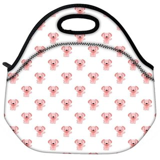 Snoogg Pink Dog Travel Outdoor CTote Lunch Bag