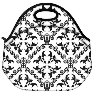 Snoogg Grey Pattern Travel Outdoor CTote Lunch Bag