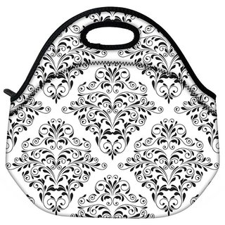 Snoogg Mixed Design Pattern Travel Outdoor CTote Lunch Bag