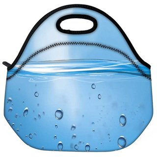 Snoogg Water Bubbles Travel Outdoor Tote Lunch Bag