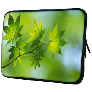 Snoogg Green Leaves On Tree 10.2 Inch Soft Laptop Sleeve
