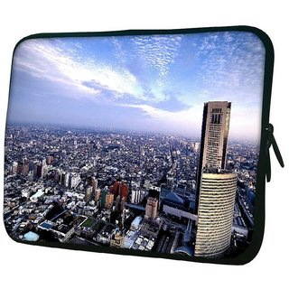 Snoogg Abstract Big City 10.2 Inch Soft Laptop Sleeve