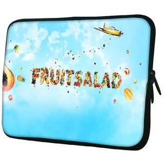 Snoogg Fruitsalad 10.2 Inch Soft Laptop Sleeve