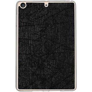Casotec Retro Style Soft TPU Leather Back Case Cover for Apple iPad mini 2 / 3 / 4 - Black