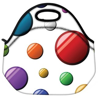 Snoogg Colorful Bubbles Travel Outdoor CTote Lunch Bag