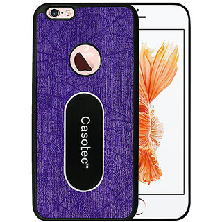 Casotec Metal Back TPU Back Case Cover for Apple iPhone 6 / 6S - Purple