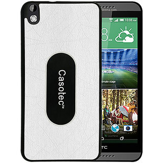Casotec Metal Back TPU Back Case Cover for HTC Desire 816 - White