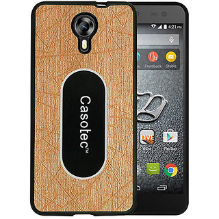 Casotec Metal Back TPU Back Case Cover for Micromax Canvas Xpress 2 E313 - Gold
