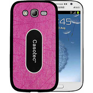 Casotec Metal Back TPU Back Case Cover for Samsung Galaxy Grand i9082 - Pink