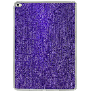 Casotec Retro Style Soft TPU Leather Back Case Cover for Apple iPad Air 2 - Purple