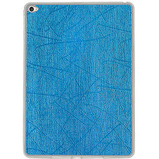 Casotec Retro Style Soft TPU Leather Back Case Cover for Apple iPad Air 2 - Sky Blue