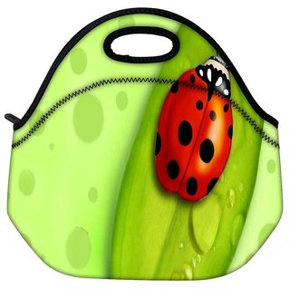 Snoogg Red Beatel Travel Outdoor Tote Lunch Bag