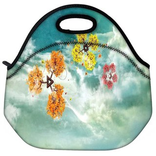 Snoogg Colorful Windsa Travel Outdoor Tote Lunch Bag