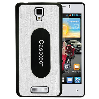 Casotec Metal Back TPU Back Case Cover for Gionee Pioneer P4 - White