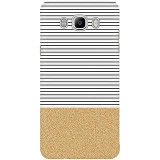Dreambolic Minimal Gold Glitter Stripes1 Mobile Back Cover