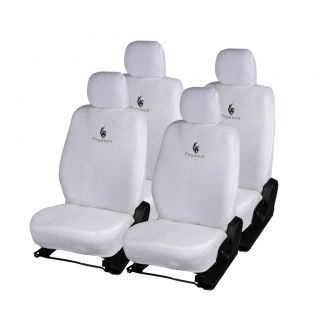 Pegasus Premium White Towel Car Seat Cover For Tata Indigo