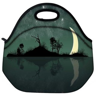Snoogg Half Moon Travel Outdoor Tote Lunch Bag
