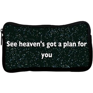 Snoogg  See Heaven'S Got a Plan for You Poly Canvas Multi Utility Travel Pouch
