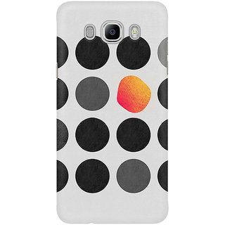 Dreambolic Black   Gray   Red Circles Graohic Mobile Back Cover