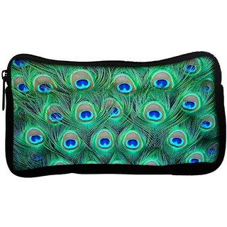 Snoogg  Peacock Pattern 2 Poly Canvas Multi Utility Travel Pouch