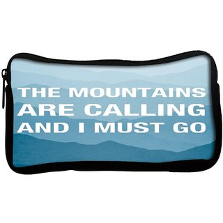 Snoogg Wanderlust mountains are calling 2868 Poly Canvas  Multi Utility Travel Pouch