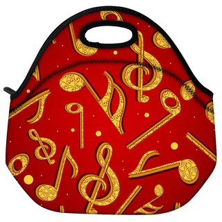 Snoogg Golden Music Travel Outdoor Tote Lunch Bag