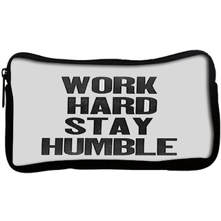 Snoogg  Work Hard Stay HumblePoly Canvas Multi Utility Travel Pouch