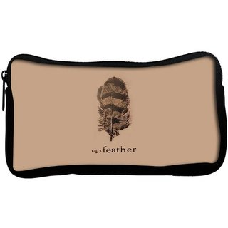 Snoogg fig 3 featherPoly Canvas  Multi Utility Travel Pouch