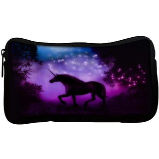 Snoogg Enchanted Unicorn  Poly Canvas Multi Utility Travel Pouch