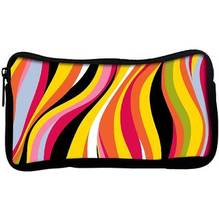 Snoogg colorful waves 2771 Poly Canvas  Multi Utility Travel Pouch