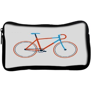 Snoogg minimal cycle ridePoly Canvas  Multi Utility Travel Pouch