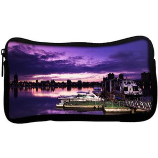 Snoogg Nite Sea View Poly Canvas  Multi Utility Travel Pouch