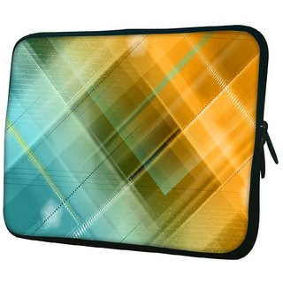 Snoogg Checkered 10.2 Inch Soft Laptop Sleeve