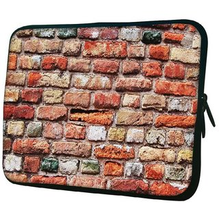 Snoogg Colorful Brick Wall 10.2 Inch Soft Laptop Sleeve