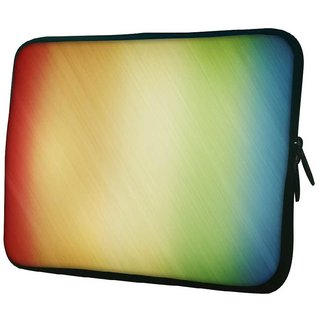 Snoogg Woollen Multicolor Design 10.2 Inch Soft Laptop Sleeve