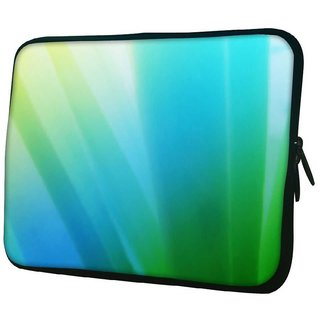 Snoogg Greeny Design 10.2 Inch Soft Laptop Sleeve