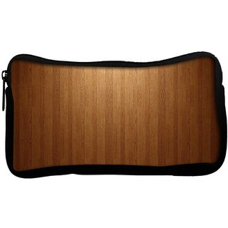 Snoogg Wood Wall Poly Canvas  Multi Utility Travel Pouch