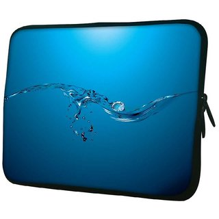 Snoogg Water Drops 10.2 Inch Soft Laptop Sleeve